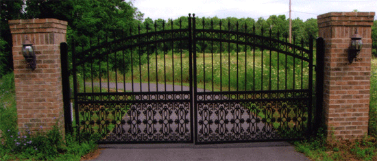 Custom Wrought Iron Entrance Gates 550 x 235 · 77 kB · png
